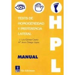 Test de Homogeneidad y Preferencia Lateral (HPL)