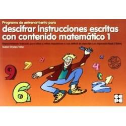Programa de entrenamiento para descifrar instrucciones escritas con contenido matemático