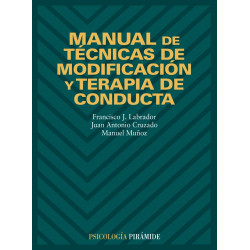 Manual de técnicas de modificación y terapia de conducta
