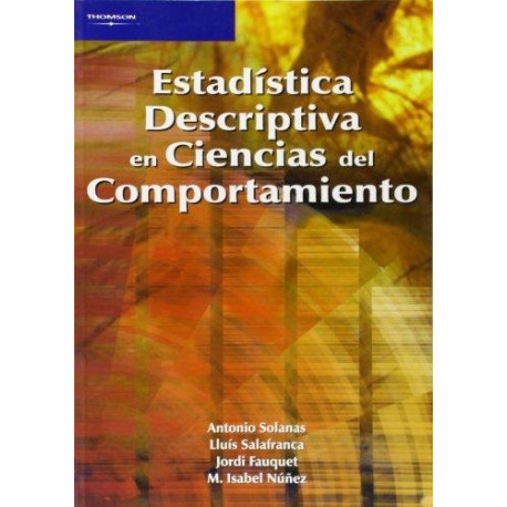 Estadística descriptiva en ciencias del comportamiento